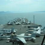 Blick auf das deck von Enterprise