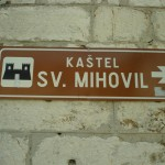 Weg zu Festung Mihovil