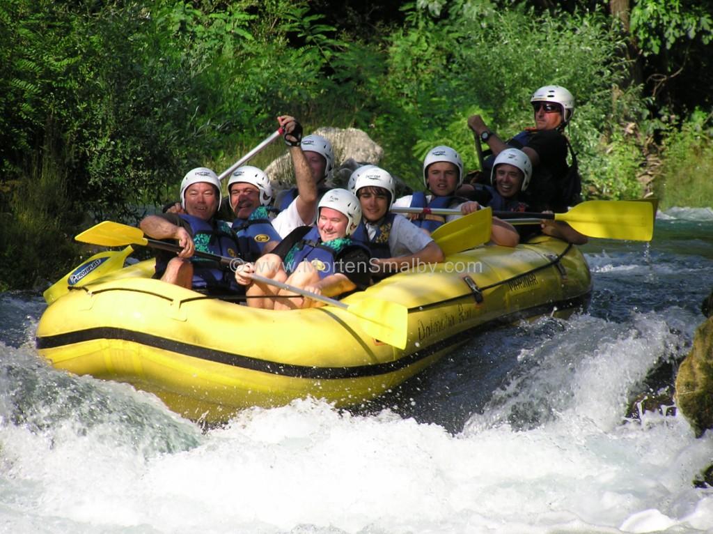 Omis Rafting auf fluss Cetina