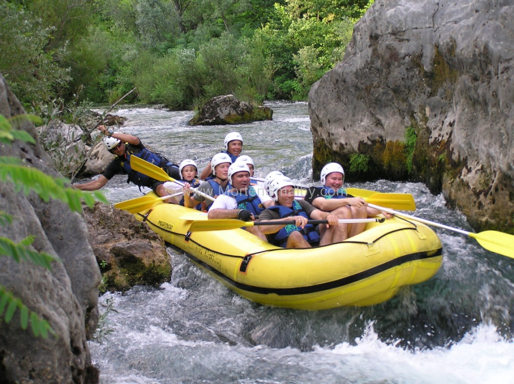 Rafting Cetina in Omis