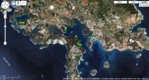 Karten Campingplaetze Istrien