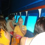 Caroline an bord der Glasboot in Rabac