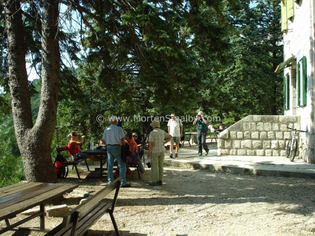 Wandern auf Berg Mosor