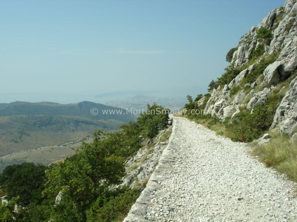 Mosor Eselspfad, Split im Hintergrund