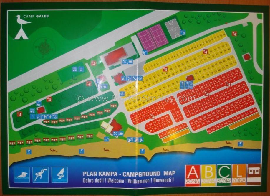 Omis Karte Camping Galeb
