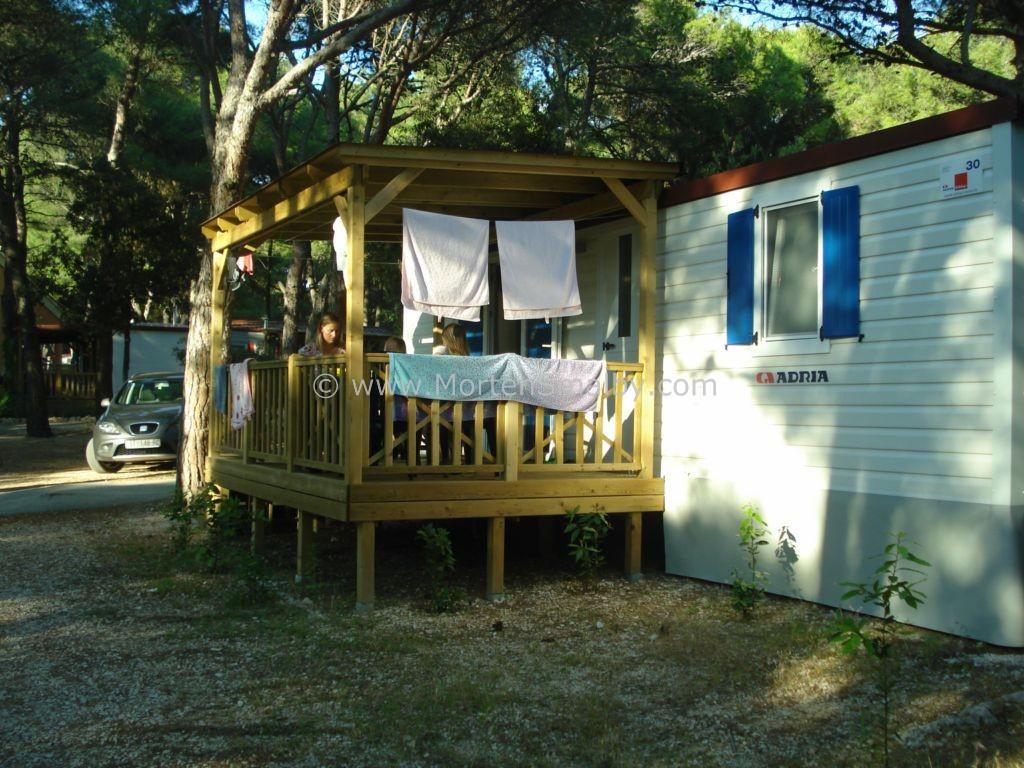 Camping Kozarica Mobilehome wo wir gewohnt habe