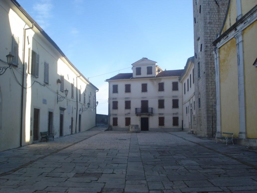 Motovun platz wo der Filmfestival stadtfindet