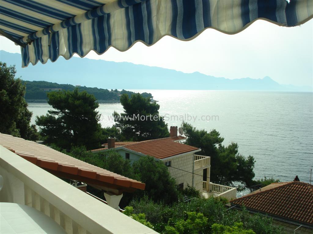 Ausblick von unsere Ferienwohnung auf Brac