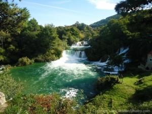Kroatien Wasserfall Krka