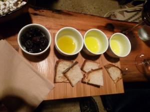 Oliven-Oel-Probieren