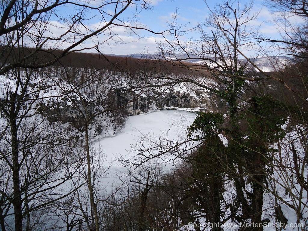 Plitvice gefrorene See
