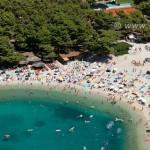 Luftbild strand Makarska